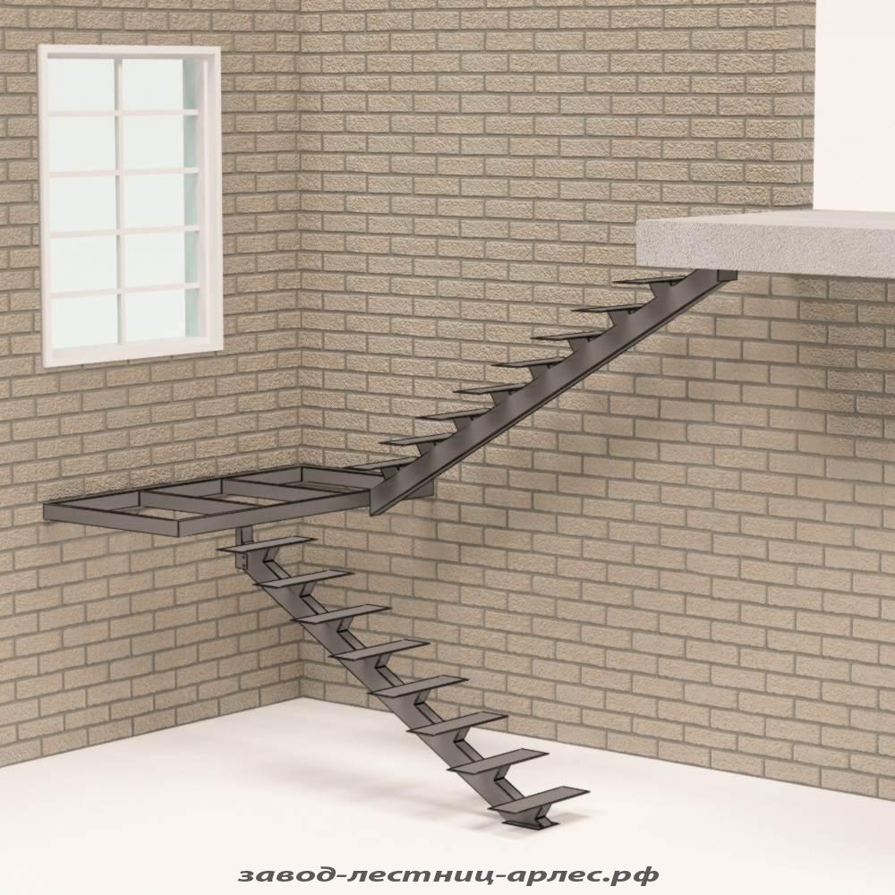 Макет лестницы на металлокаркасе