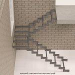 Лестница на металлическом каркасе