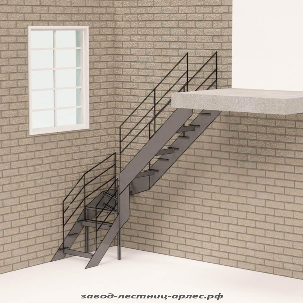 Лестница на металлокаркасе цена