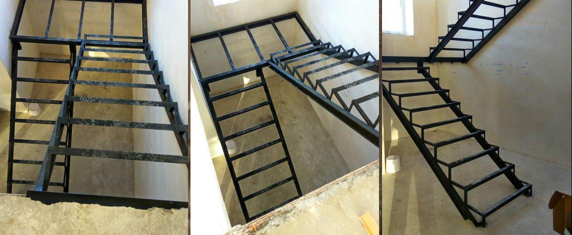 Лестница на металлокаркасе арлес